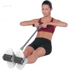 Pilates Rowing Action Exerciser w/DVD